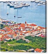 Town Of Seget Aerial View Canvas Print