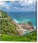 Town Of Vernazza, Cinque Terre, Italy Canvas Print