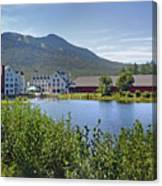 Town Square By The Pond At Waterville Valley Canvas Print