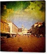 Town Square #edit - #hvar, #croatia Canvas Print