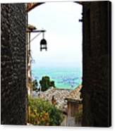 Town View In Italy Canvas Print