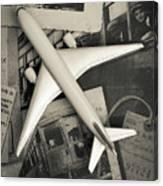 Toy Airplane Vintage Travel Canvas Print