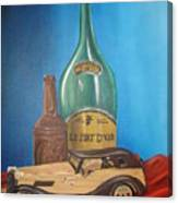 Toy Car And Bottles Canvas Print