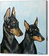 Toy Manchester Terriers Canvas Print