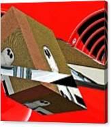 Toy Owl Bump Map As Art Canvas Print