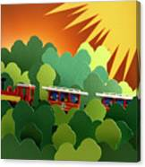 Toy Train Canvas Print