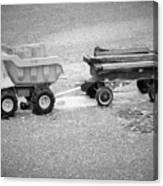 Toy Truck In Black And White Canvas Print