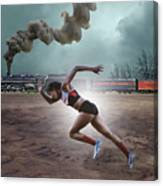 Track And Field Canvas Print