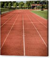 Track And Field Of Depth One Canvas Print