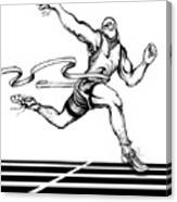 Track Sprinter Canvas Print