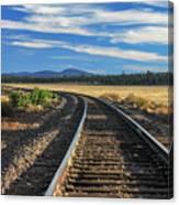 Tracks At Crater Lake Canvas Print