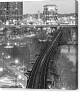 Tracks Into The City Canvas Print