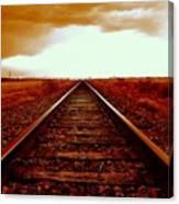 Marfa Texas America Southwest Tracks To California Canvas Print