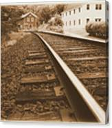 Tracks To Town Canvas Print