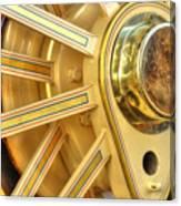 Traction Engine Wheel Canvas Print