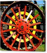 Tractor Big Wheel Canvas Print