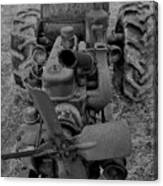 Tractor Bw Canvas Print