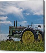 Tractor In Field Canvas Print