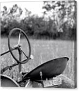Tractor In Long Grass Canvas Print