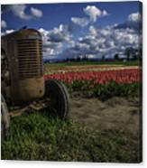Tractor N' Tulips Canvas Print