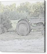 Tractor   Pencil Drawing Canvas Print