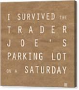 Trader Joe's Parking Lot Canvas Print