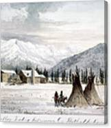 Trading Outpost, C1860 Canvas Print