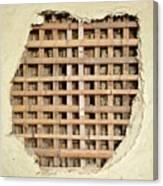 Traditional Bamboo Mud Wall Construction Canvas Print