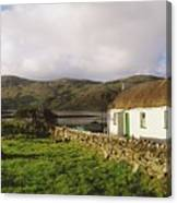 Traditional Cottage, Near Lough Rus Canvas Print