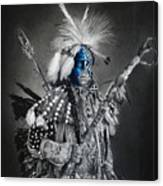 traditional dancer Blue Canvas Print
