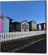 Traditional English Beach Huts Canvas Print