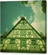 Traditional House Roth Germany Cross Process Holga Photography Canvas Print