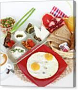 Traditional Israeli Breakfast Canvas Print
