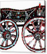 Traditional Painted Donkey Cart  Canvas Print