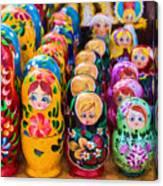 Traditional Russian Matrushka Nesting Puzzle Dolls Canvas Print