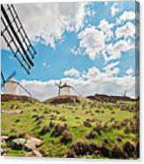 Traditional White Windmills  Canvas Print
