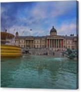 Trafalgar Square Fountain London 12 Canvas Print
