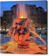 Trafalgar Square Fountain Canvas Print