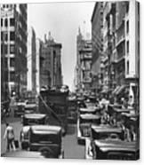 Traffic On Fifth Avenue Canvas Print