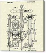 Traffic Signal 1922 Patent Art Canvas Print