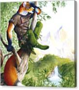 Trail Blazing Fox Canvas Print