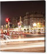 trail lines over the Liffey Canvas Print