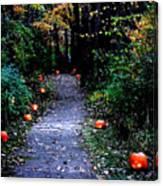Trail Of 100 Jack-o-lanterns Canvas Print