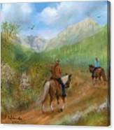 Trail Ride In Sabino Canyon Canvas Print