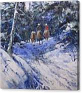Trail To Winter Camp Canvas Print