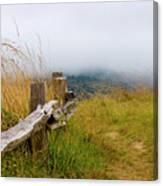 Trail With Coastal Morning Fog Canvas Print