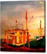Trailer Ship H A Canvas Print