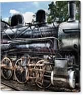 Train - Engine - 385 - Baldwin 2-8-0 Consolidation Locomotive Canvas Print