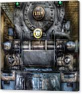 Train - Engine -1218 - Norfolk Western Class A - 1218 - Front View Canvas Print