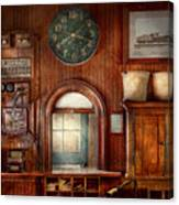 Train - Office - The Ticket Takers Window Canvas Print